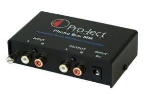 Pro-Ject Phono Box MM DC Phonograph Preamplifier, Black
