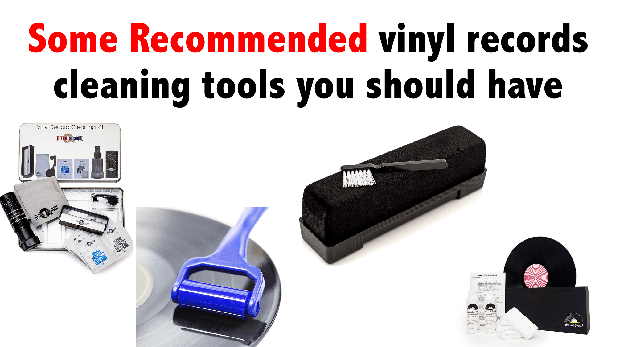 Some Recommended vinyl records cleaning tools you should have