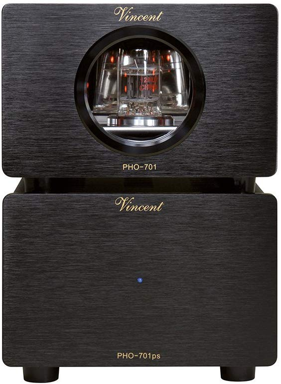 Vincent PHO 701 Phono Preamplifier MM/MC w/Outboard Power Supply Black