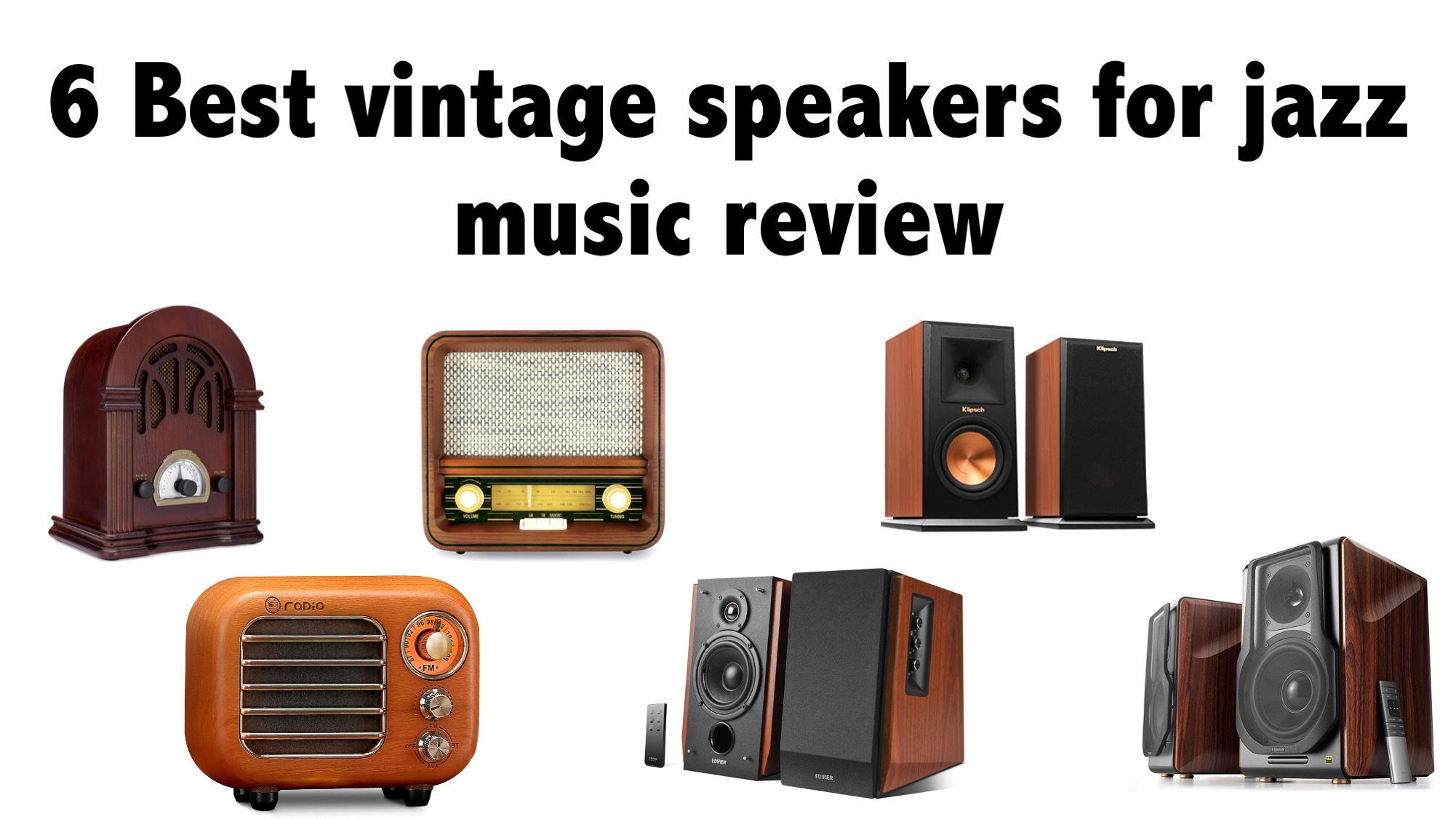 6 Best vintage speakers for jazz music review