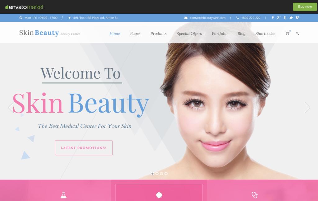 Skin Beauty - Spa WordPress
