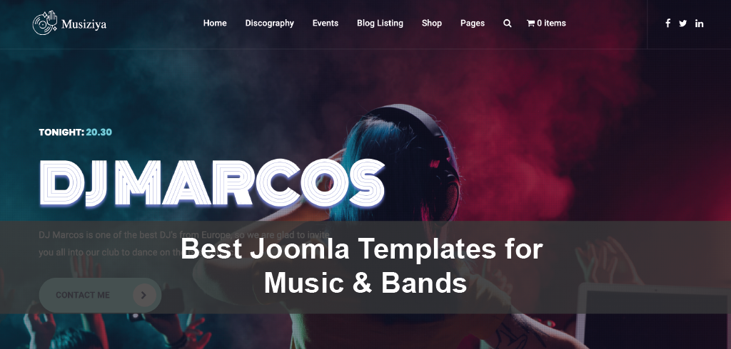 Best Joomla Templates for Music & Bands